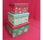 Boxes Set of 3 pcs. Christmas theme